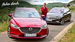 45.000€ vs 65.000€? Mazda 6 Skyactiv D184 vs VW Passat 2.0 TDI KOMBI DUELL   Fahr doch