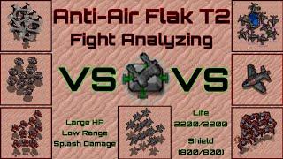 Rusted Warfare 1.12   Antiair Flak T2 Fight Analyzing