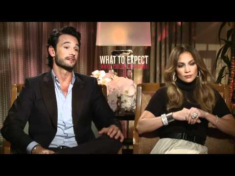 Jennifer Lopez & Rodrigo Santoro's Official 'What To Expect When You're Expecting' Interview