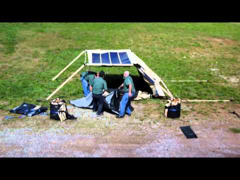 Tactical Shelter Setup with Solar Fly