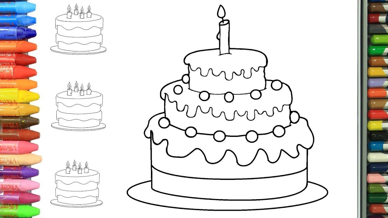 Смешные, открытки с днем рождения нарисовать торт