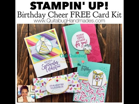 Stampin' Up! Birthday Cheer {FREE} Card Kit  Club Quitabug
