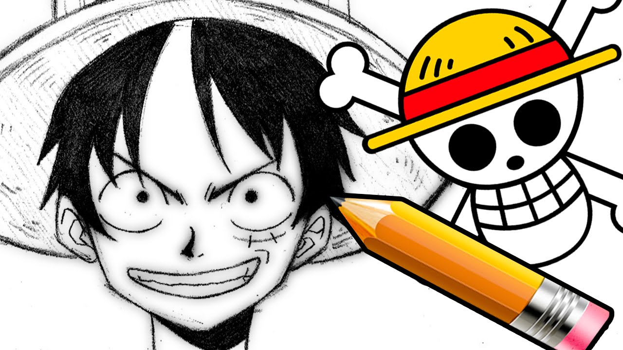 Como dibujar luffy one piece la cueva del conejo youtube for One piece dibujos