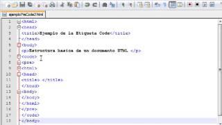 Curso de HTML PHP: Unidad 1: Uso de etiqueta code