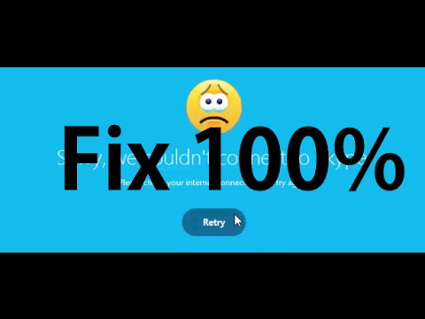 How to fix Skype Can't Connect Problem 2016 In Window 8 / 7 & 10