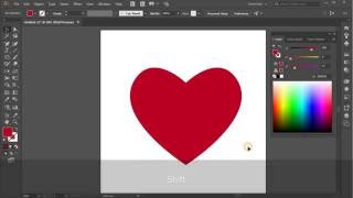 Heart. Tutorial Adobe Illustrator CC for beginners
