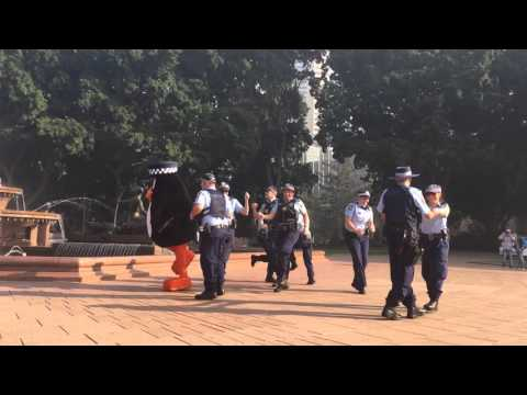 Sydney Police Running Man Challenge with charity CanToo runners