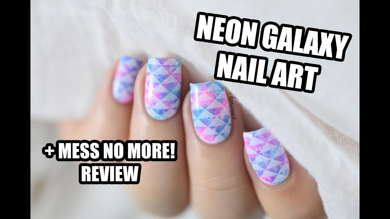 Mess No More! Review & Neon Galaxy Nail Art || Marine Loves Polish ...