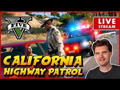 GTA 5 LSPDFR STATE PATROL California Highway Patrol CHP | GTA V Realistic Police Patrol Mod