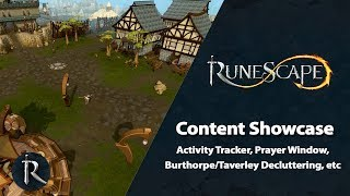 Activity Tracker, Burthorpe/Taverley Decluttering, etc - RuneScape Content Showcase (August 2019)