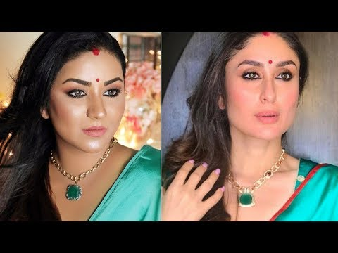 KAREENA KAPOOR KHAN INSPIRED LOOK | Indian Wedding Guest/Party Makeup Tutorial