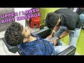 Stress relief Head massage & Powerful Body massage with cracking by Ujjal barber | Indian ASMR