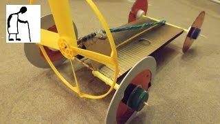 Dual Powered Rubber Band Powered Car
