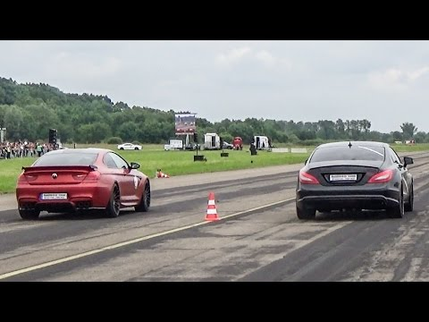 BMW M6 Hamann VS Mercedes CLS 63 AMG!