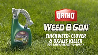 How to Get Rid of Use Chickweed, Clover & Oxalis Using Ortho® Weed B Gon® Ready-To-Spray