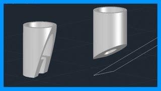 Autocad - Cortar sólidos 3D. Seccionar sólidos. Tutorial en español HD