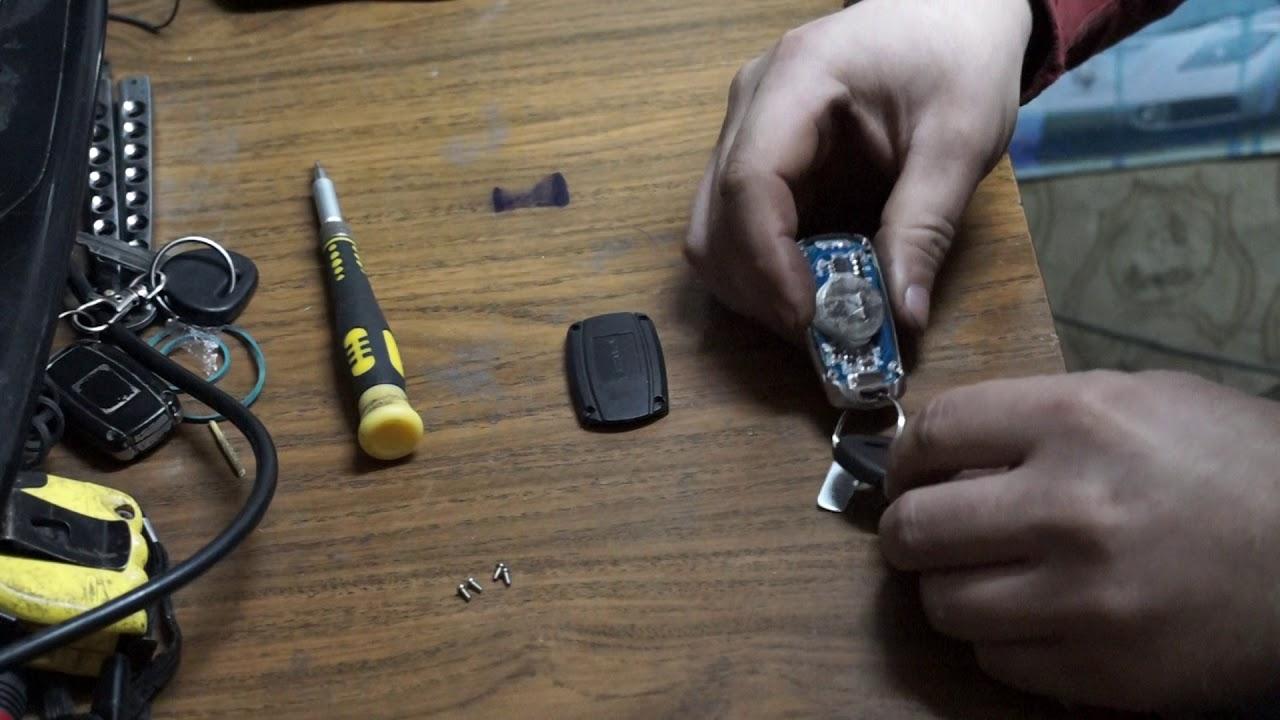 замена батареек в брелке сигнализации CONVOY