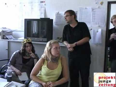 spannender Produktionstag: Die Junge Zeitung 2009 entsteht