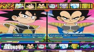 GOKU NIÑO DBS TEAM vs VEGETA NIÑO DBS TEAM | DRAGON BALL Z BUDOKAI TENKAICHI 3