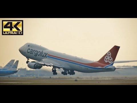 [4K] CARGOLUX B747 (LX-VCN) Take Off @ Amsterdam Airport Schiphol