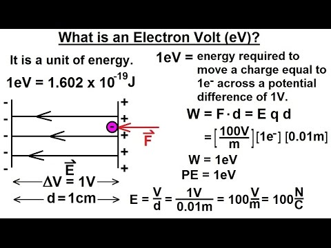 Physics - Mechanics: Ch. 0.5: Standard Units (39 of 41) What is an Electron Volt (eV)?