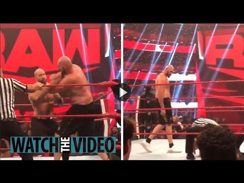 Watch Tyson Fury KO WWE star Cesaro after RAW went off air as feud with Braun Strowman heats up