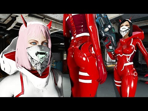 ZEROTWO WITH AHEGAO FACE! ZeroTwo Outfit - Fallout 4 Mod