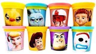 Play-Doh Toy Story 4 Mini Figures Bo Peep Woody Buzz Lightyear Gabby Ducky Bunny Forky Duke