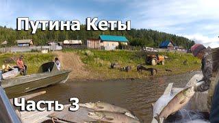 Рыбалка сплавными сетями Ловля кеты стометровой сетью Рыба есть ход красной рыбы начался