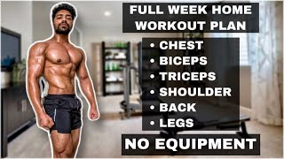 Full Week Workout Plan At Home (No Equipment)