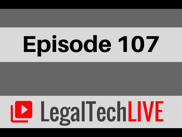 Watch Us on LegalTech Live