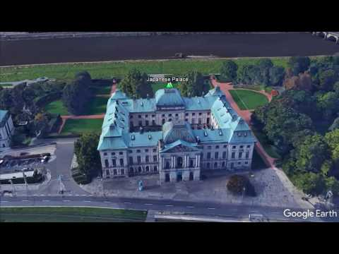 Flying over Dresden sightseeings on Google Earth