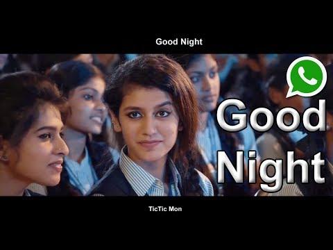 Good Night Romantic WhatsApp Status Video Priya Prakash - TicTic Mon