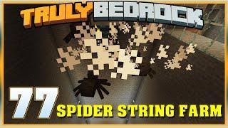 Truly Bedrock E77 Spider String Farm | Minecraft Bedrock, MCPE, MCBE