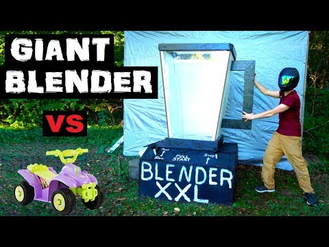 World's LARGEST BLENDER!!  vs  Power Wheels! (replica money)
