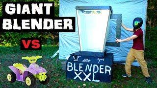 World's LARGEST BLENDER!!  vs  Power Wheels! (not clickbait)