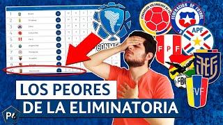 Las PEORES SELECCIONES de las ELIMINATORIAS CONMEBOL ¿Cuál será la peor rumbo a QATAR 2022?