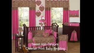 Cheetah Baby Bedding - Animal Print Nursery Decor