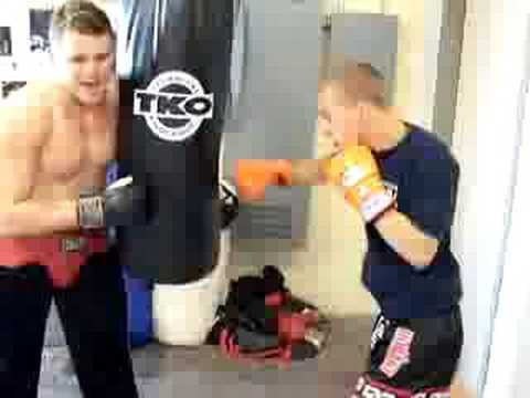 Heavy Bag Interval Boxing Training Workout Drill.