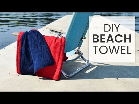 How To Make A Beach Towel