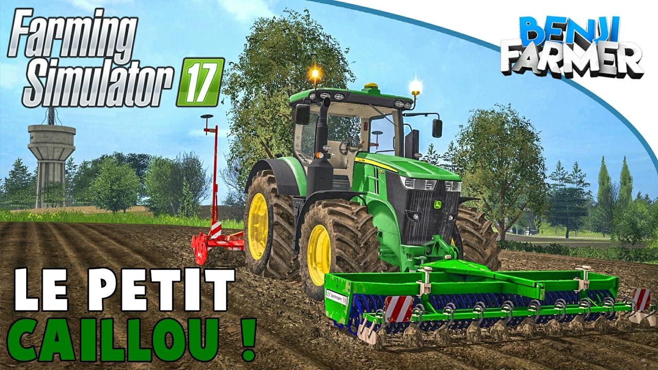 farming simulator 17 le petit caillou pr paration du sol ma s youtube. Black Bedroom Furniture Sets. Home Design Ideas
