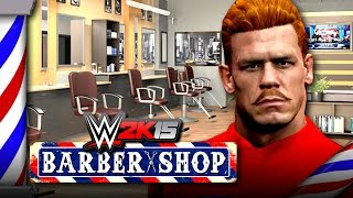 John Cena Visits The WWE 2K15 BARBER SHOP!