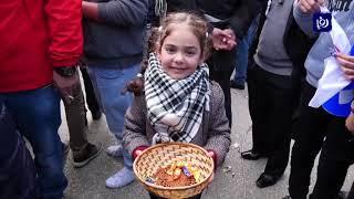 فرحِ في الضفةِ الغربيةِ المحتلة بعدَ وقفِ قانونِ الضمانِ الاجتماعي - (29-1-2019)