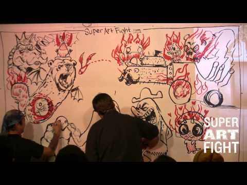 Super Art Fight Invades LOS ANGELES [Full Show]