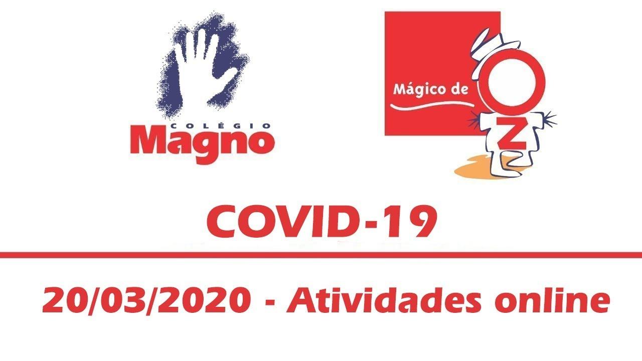 COVID-19 - Atividades online - 20/03/2020