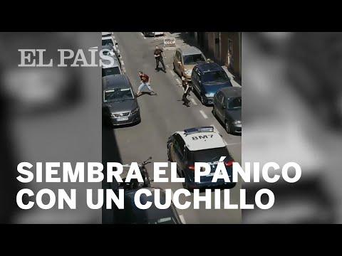 Un policía dispara a un hombre que intentó acuchillar a una agente en Carabanchel