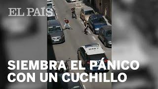 Un policía dispara a un hombre armado con un cuchillo en Madrid