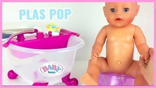 PLAS POP VAN BABY BORN POP PLAST OP POTJE EN GAAT IN BAD VERSCHONEN LUIER FROZEN POP ANNA ELSA