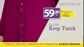 Sefamerve Çıtçıtlı Krep Tunik