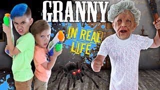 Granny In Real Life! Freeze Trap Takedown (FUNhouse Family)